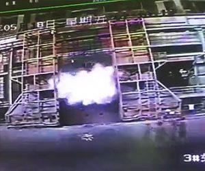 中国溶鉱炉が爆発