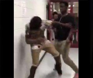黒人少年の喧嘩