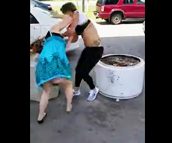 ガソリンスタンドで喧嘩