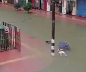 洪水で感電死