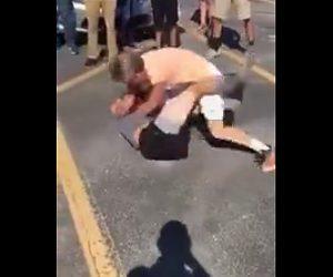 白人少年の喧嘩
