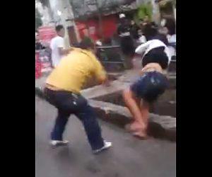 おじさんと女性の喧嘩
