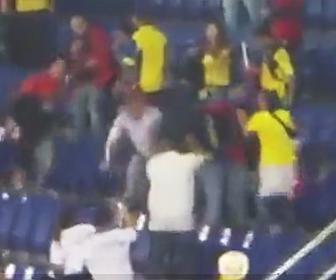 コロンビアサポーターが喧嘩