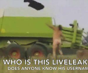 農場の面白おじさん