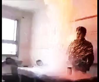 理科の実験で爆発