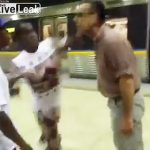 【動画】人種差別発言をする白人が黒人に殴り倒される