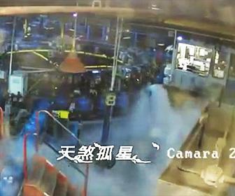 プロパンガス工場が大爆発