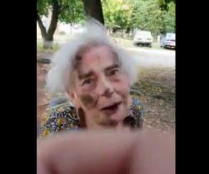 おばあさんが襲われる