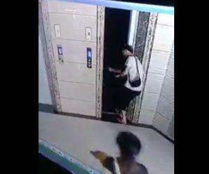 エレベーターシャフトに落下