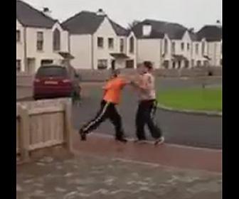 喧嘩で強烈な一撃