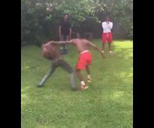 黒人達の喧嘩