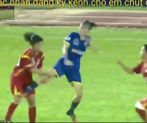 女子サッカーで大乱闘