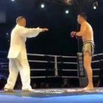 【動画】カンフーマスターのおじさんVS総合格闘家 強烈な一撃でノックアウト