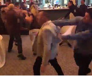 結婚式で椅子が飛び交い激しい殴り合い。大乱闘が起きてしまう衝撃映像