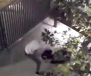 【動画】男がホームレスにナイフで襲いかかる衝撃映像