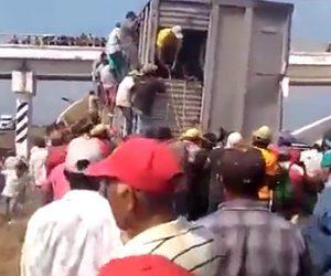 【動画】牛を運ぶトラックが事故で動けなくない、大勢で積み荷の牛を盗む衝撃映像