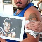 【動画】タトゥーを入れた男性に悲劇。アンジェリーナジョリーのタトゥー腕に入れるが…