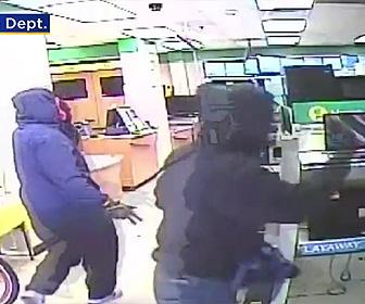 【動画】質屋に銃を持った武装強盗4名が押し入り金品を奪い逃走する