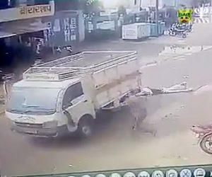 【動画】男性が同じトラックに2度轢かれてしまう衝撃事故