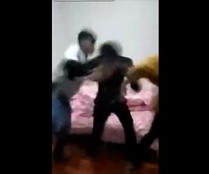 【動画】浮気した男が男性2人にボコボコニされる衝撃映像