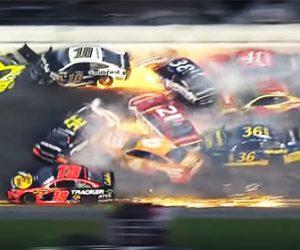 【動画】デイトナ500で21台の車がクラッシュする衝撃事故映像