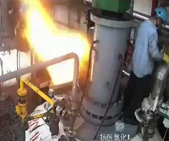【動画】水素プラントで爆発が起き作業員が吹き飛ばされる衝撃映像