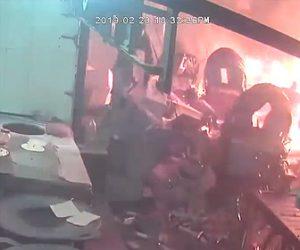 【動画】香水工場が大爆発。炎から必死に逃げる人達。死者67名以上の大惨事