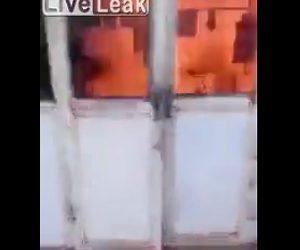 【動画】犬に大量の爆竹を付けて火を付けると犬が家に逃げ込んでしまい…