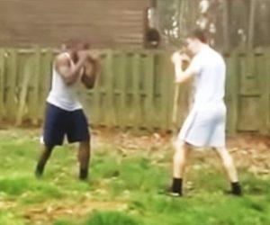 【動画】黒人VS白人 1対1の激しい殴り合い 強烈な一撃でノックアウト
