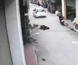 【動画】猛スピードのタクシーが女子高生をはね飛ばし走り去ってしまう衝撃映像