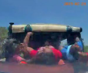 【動画】客がたくさん載ったトゥクトゥクに後ろから猛スピードの車が突っ込む衝撃事故