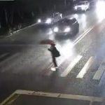 【動画】ホバーボードで横断歩道を渡る男性が猛スピードの車にはね飛ばされる