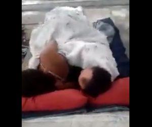 【動画】ホームレスカップルが木の下でセ●クスしている衝撃映像