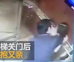 【動画】エレベーター内で男が少女に襲いかかる衝撃映像