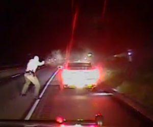 【動画】警察に止められた車の運転手が銃を取り出し警察官に銃で撃ちまくられる衝撃映像