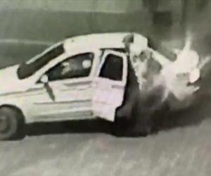 【閲覧注意動画】男達がタクシー運転手を銃で撃ち、逃げる運転手をナイフで刺しまくる衝撃映像
