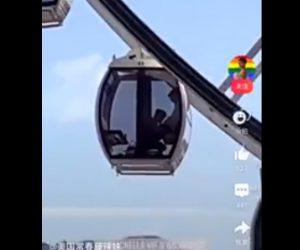【動画】観覧車の中で卑猥な行動をするカップルが撮影される