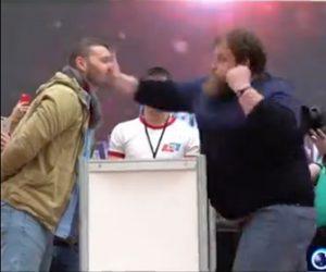 【動画】ロシアのビンタ張り合いコンテストがヤバすぎる