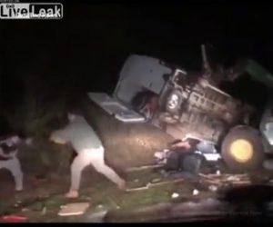 【動画】自分の土地に車を停めゴミをすてる男達に土地主が衝撃の行動