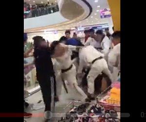 【動画】テコンドー集団VSジムの男達 激しい殴り合いでノックアウト