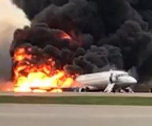 【動画】ロシアの旅客機炎上し41人死亡。激しい炎と黒煙に包まれた衝撃映像