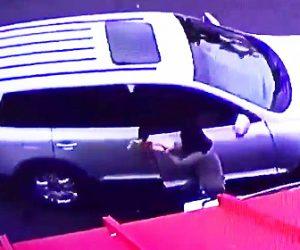 【動画】女性が男に財布をひったくられ必死に抵抗するが…