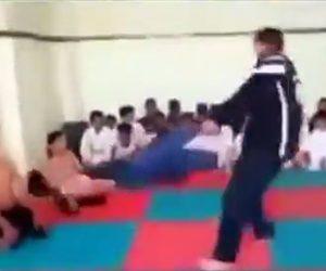 【動画】子供達に空手を教える空手教室の先生がヤバすぎる衝撃映像