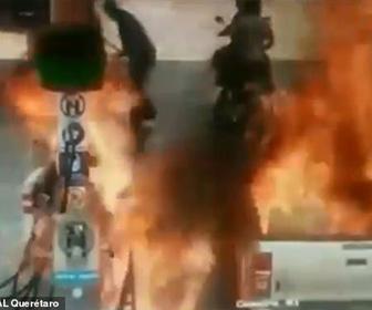 【動画】ガソリンスタンドで給油中、7歳少女が近づき恐ろしい事になってしまう