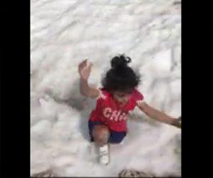 【動画】少女が雪に覆われたクレパスに落下してしまう衝撃映像