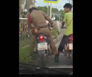 【動画】酔っぱらった警察官がバイクを運転しようとするがフラフラで運転できない衝撃映像