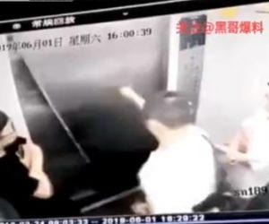 【動画】エレベーター内で友達にふざけてパンチをする男性がエレベーター入口にもパンチし…