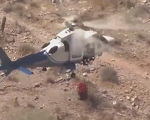 【動画】負傷した女性をヘリコプターで吊り上げ救助しようとするが大変な事になってしまう衝撃映像