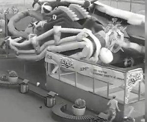 【動画】エア遊具が強風で飛ばされトランポリンで遊んでいた子供達が下敷きになってしまう衝撃映像