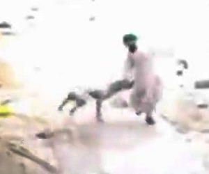 【動画】野良犬に靴を投げつける男性。野良犬の反撃に遭う衝撃映像